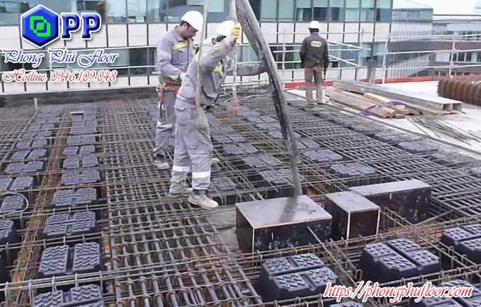 Áp dụng bê tông xốp vào bề mặt sàn bê tông vào công trình là lựa chọn mang lại nhiều lợi ích