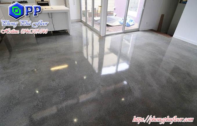 Bề mặt sàn bê tông sau khi được phủ bóng