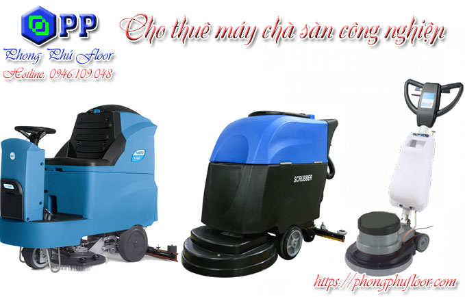 Cho thuê máy chà sàn công nghiệp