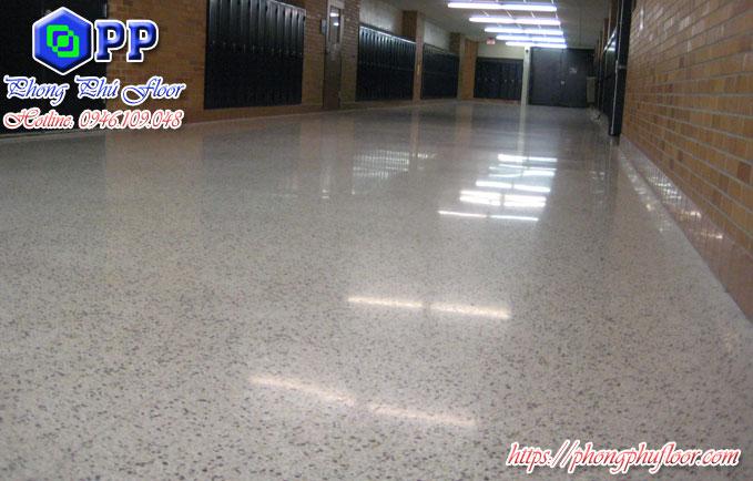 Sàn Terrazzo được ứng dụng tại trường học mang lại một không gian sáng rực rỡ