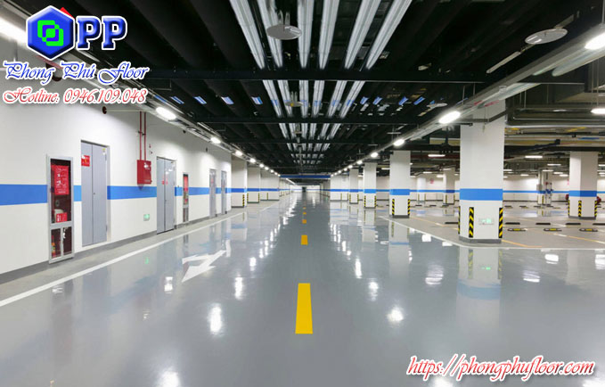 Sàn epoxy cho tầng thầm mang lại thẩm mỹ cao