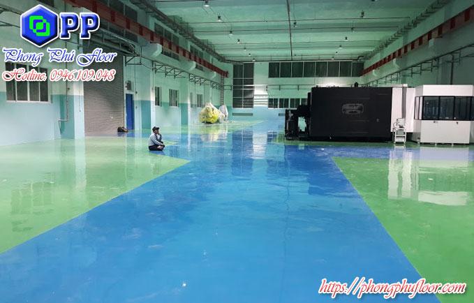 Sơn epoxy chống axit mang lại nhiều lợi ích cho bề mặt sàn và không gian xung quanh