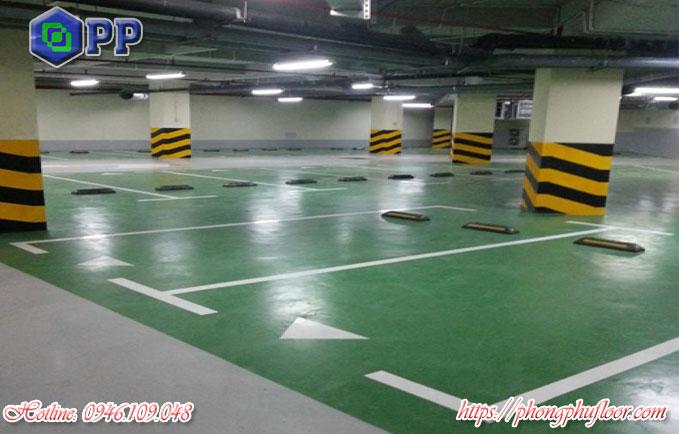 Sơn sàn tầng hầm nhằm mang lại lợi ích bảo vệ bề mặt sàn tầng hầm
