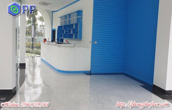 Thi công bê tông mài granito mục đích giúp bề mặt không bị xuống cấp và cải thiện chất lượng của sàn