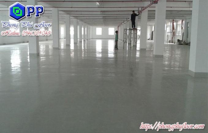 Thi công sơn epoxy sàn bê tông