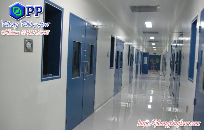 Thi công sơn nền và tường epoxy cho bệnh viện