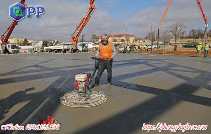 Xoa nền bê tông để làm gì?