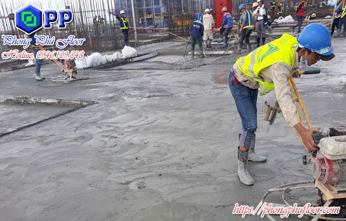 Xoa nền liên tục sẽ tạo ra một bề mặt sàn phẳng hoàn hảo