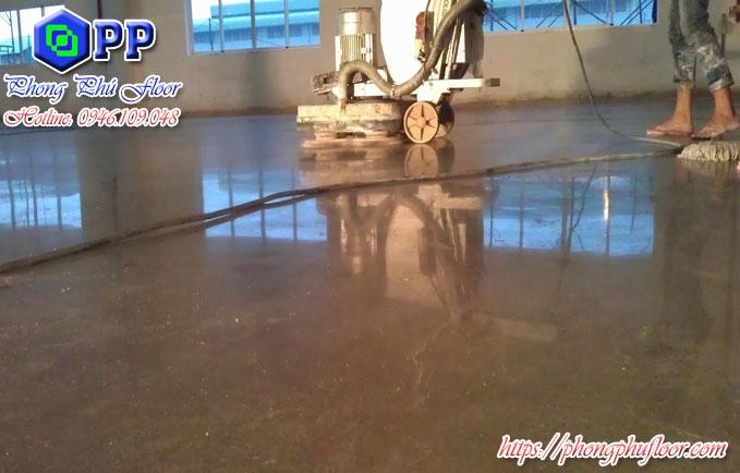 Bề mặt sàn bê tông được đánh bóng