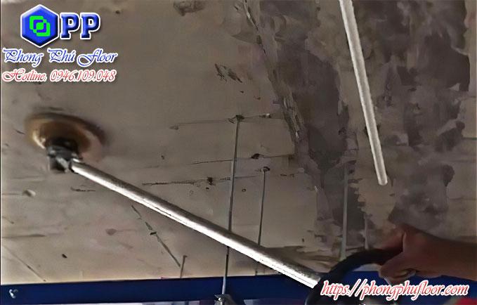 Dịch vụ mài trần bê tông với máy mài trần nhà chuyên dụng