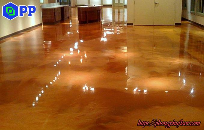 dịch vụ nhuộm màu sàn bê tông