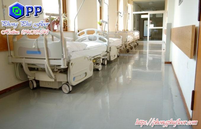 Dịch vụ thi công sơn sàn epoxy tại bệnh viện giá rẻ