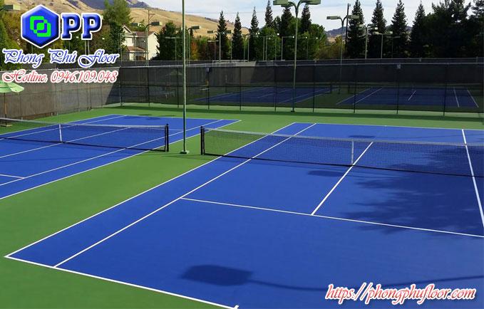 Nhận thi công sơn epoxy sân tennis giá rẻ