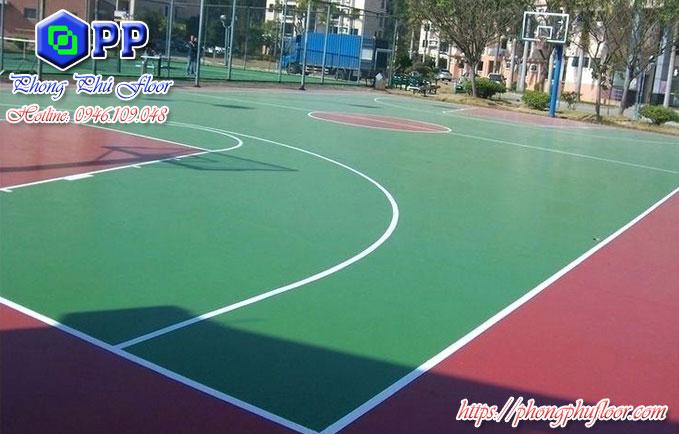 Nhận sơn nền epoxy cho sân bóng rổ theo tiêu chuẩn thi đấu