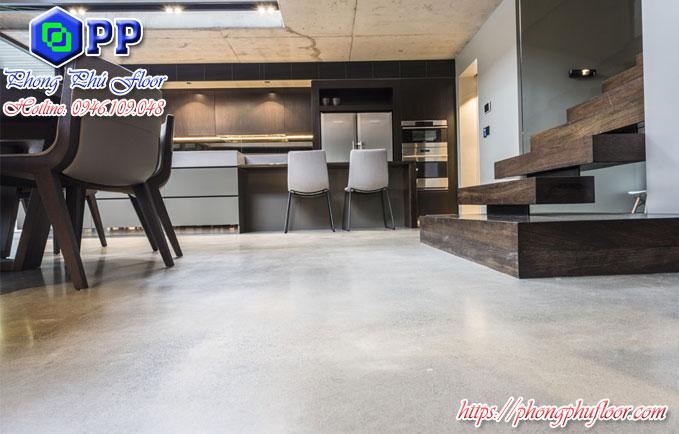 sàn bê tông mài bóng có rất nhiều lợi ích khi dùng