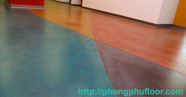 Sàn bê tông nhuộm màu nghệ thuật