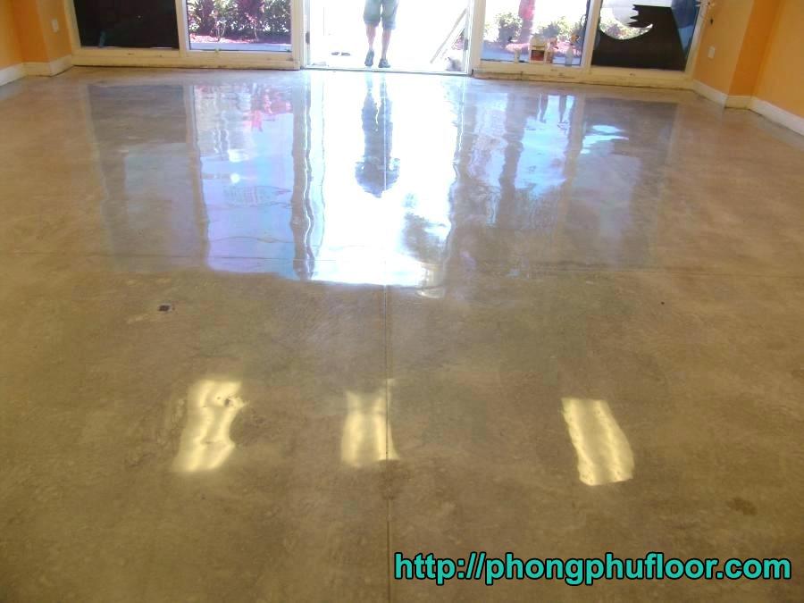 Sàn bê tông sau khi được phục hồi bởi phong phú floor