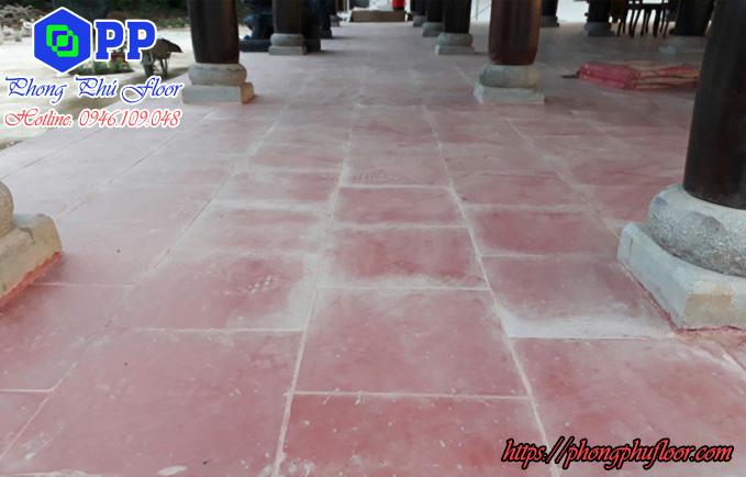 sàn gạch tàu sau một thời gian đưa vào sử dụng sẽ bị cũ kỹ và cần được phục hồi đánh bóng
