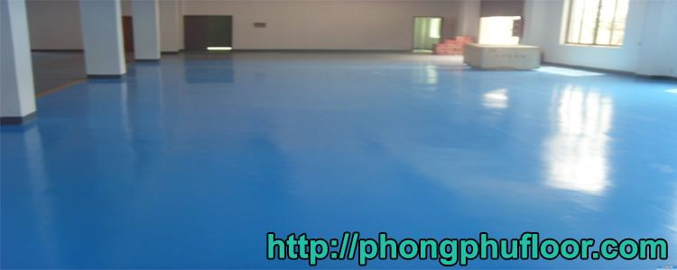 Một công trình sơn sàn epoxy hoàn thiện của Phong Phú Floor