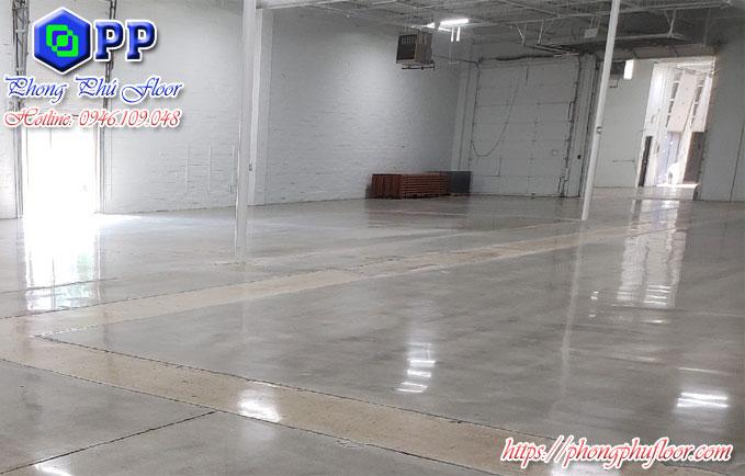 Thi công đánh bóng nền bê tông cho nhà xưởng