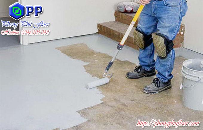 Thi công sơn chống thấm cho nền epoxy giá rẻ