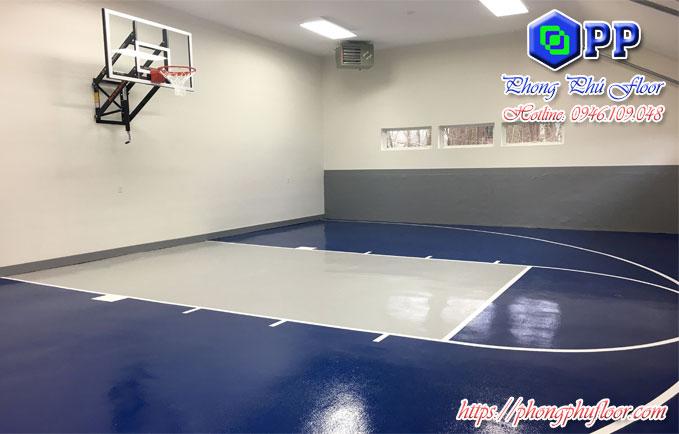 nhận thi công sơn nền epoxy cho sân bóng rổ rẻ nhất thị trường