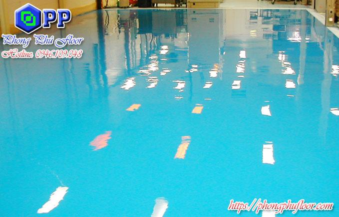 Nhận thi công sơn sàn epoxy chống thấm nước + bám bẩn