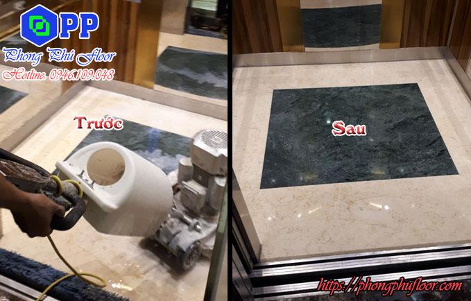 Kết quả sau khi sử dụng dịch vụ đánh bóng sàn đá granite tại tphcm